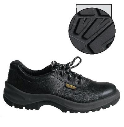 c1b3b5904769a Bezpečnostná poltopánka pre profesionálne použitie s oceľovou špičkou, podrážka  odolná voči pohonným hmotám, antistatická. obuv